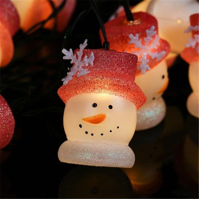 Winsome House WX04 Solar Outdoor String Light, 10 LED Warm White Snowman, 13.8 ft.