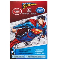 Superman Valentine's Day Exchange Cards, 32 count with stickers
