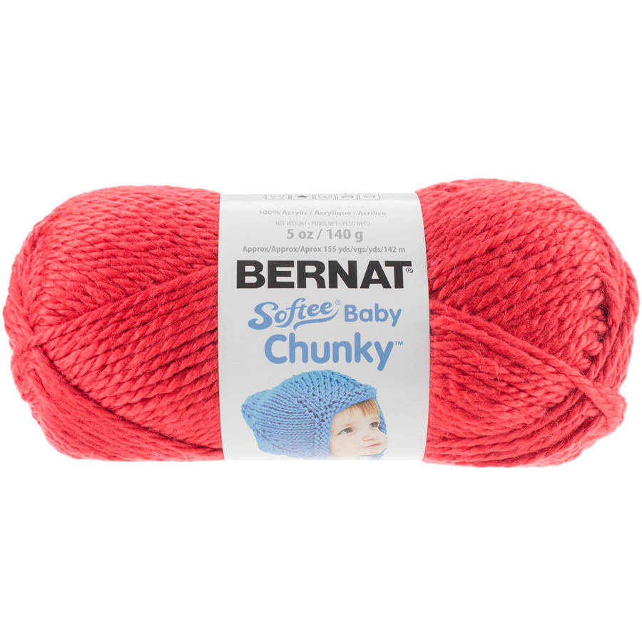 Softee Baby Chunky Yarn - Candy Apple Red