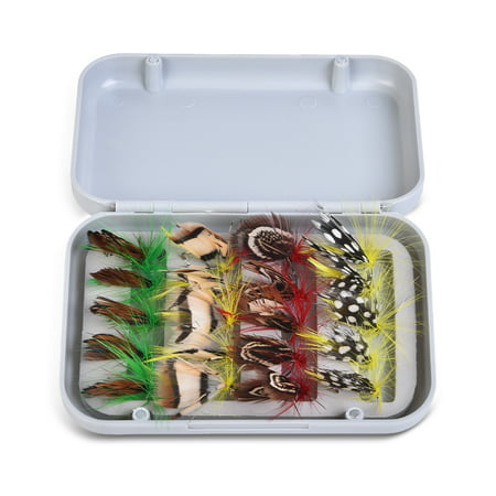 Fly Fishing Flies Kit 20/100pcs Assorted Fly Fishing Lures Hooks with Fly Box ()