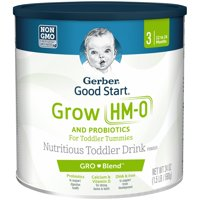 Gerber Good Start Grow Non-GMO Powder Nutritious Toddler Drink, Stage 3, 24 oz. (Pack of 4)