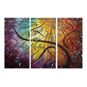 Sweet Blossoms Metal Wall Art - Set of 3 - 38W x 23.5H in.