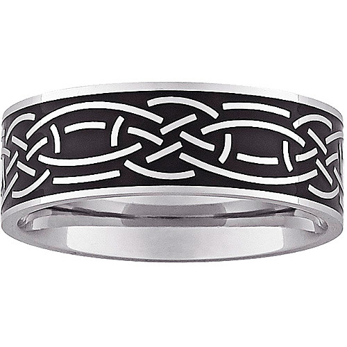 8mm Celtic Design Two-Tone Band in Stainless Steel