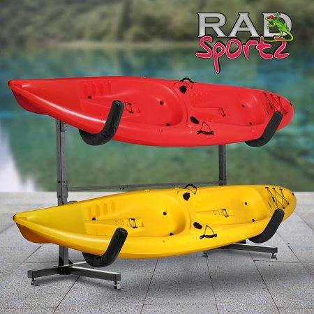 RAD Sportz Deluxe Freestanding Heavy Duty Kayak Rack Two Kayak Storage
