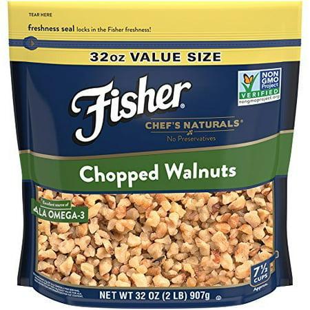 Thick American Black Walnut - Fisher Chef's Naturals Chopped Walnuts, Non-GMO, 32 oz