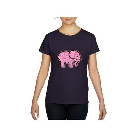 Pink Paisley Elephant Women