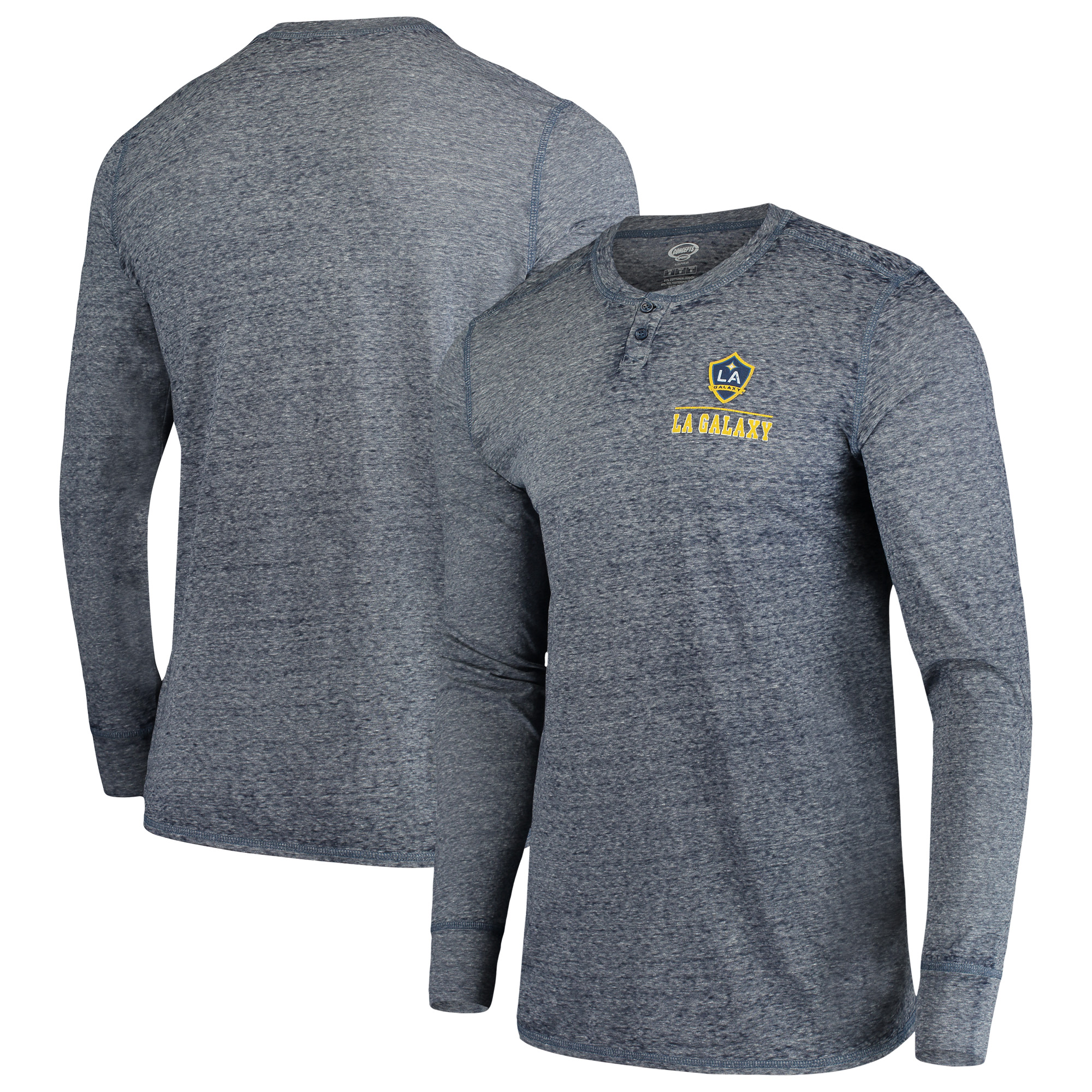 LA Galaxy Concepts Sport Podium Henley Long Sleeve T-Shirt - Navy