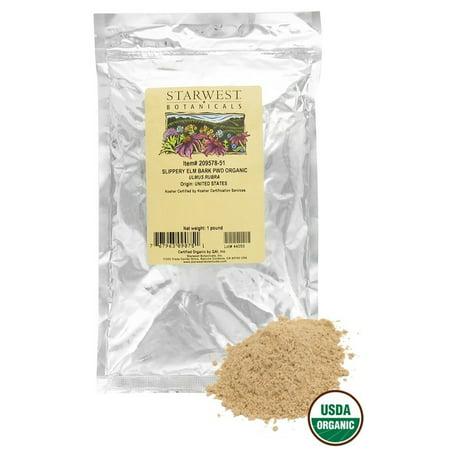 Starwest Botanicals - Bulk Slippery Elm Bark Powder Organic - 1 lb.