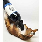 KITCHEN DECOR THE WISE FOX AND THE GRAPES WINE BOTTLE HOLDER FIGURINE by ATL