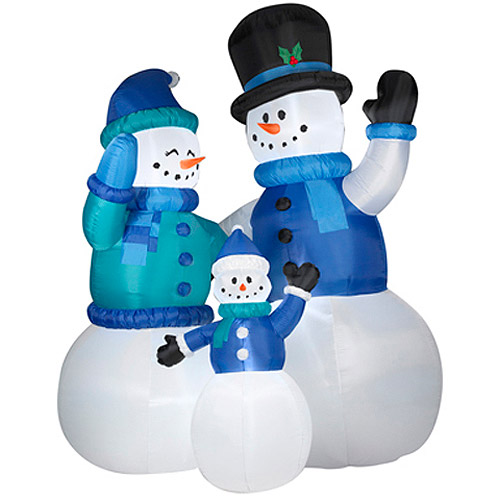 Airblown Inflatables 12' Tall x 9.2' Long Colossal Snowman Family