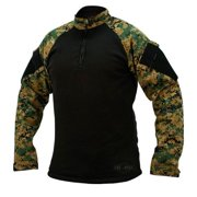 65/35 PC RS TRU 1/4 Zip Combat Shirts, Wood Digital/Black