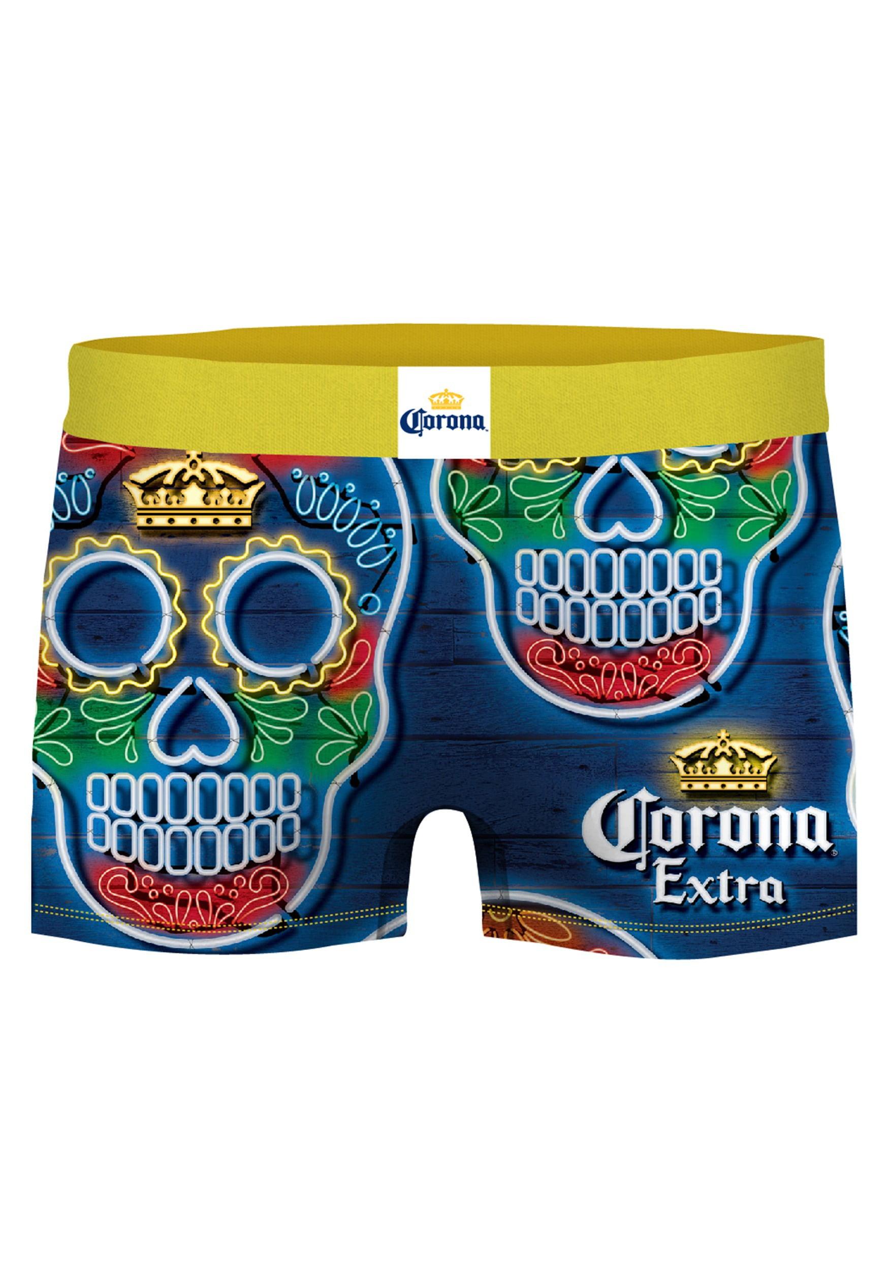 Mens 2-Pack Boxer Briefs Polyester Underwear Trunk Underwear with Sugar Skulls Design