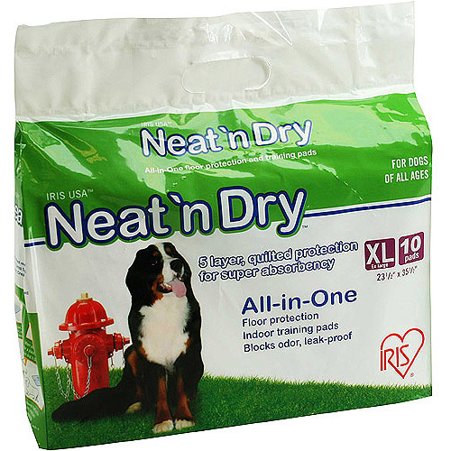 IRIS Neat and Dry All-in-One Training Pads Large Size