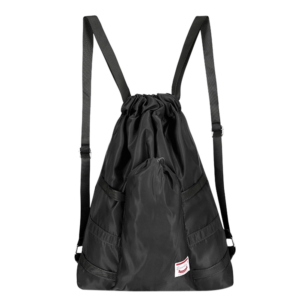 Drawstring Bag Durable Casual Backpack Shopping Bags for Home Schooling Travel
