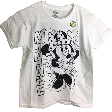 Minnie Mouse Hears  Stars Coloring Youth T-Shirt (Medium 8)](Minnie Mouse Coloring Pages Halloween)