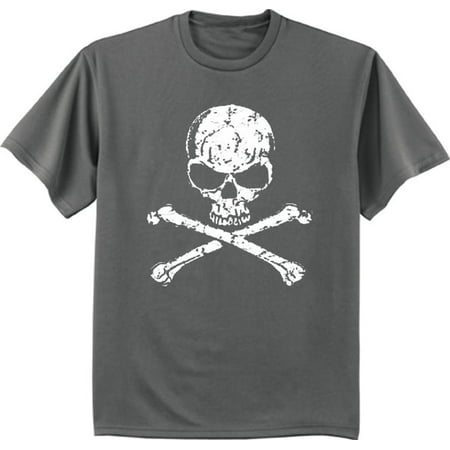 skull and crossbones pirate t-shirt graphic tee for men - Mens Pirate Shirts