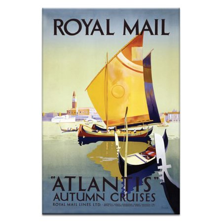 Artist Lane Royal Mail Vintage Advertisement On Wrapped Canvas