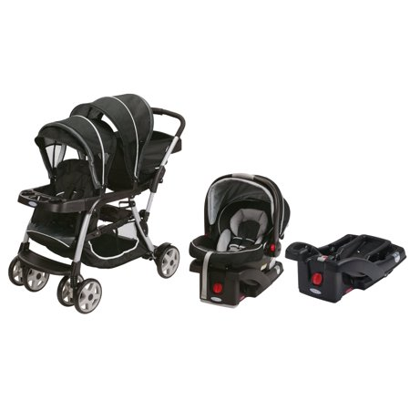 graco ready2grow click connect travel system extra car seat base gotham. Black Bedroom Furniture Sets. Home Design Ideas