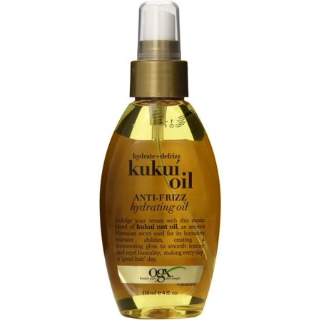 OGX Hydrate & Defrizz Kukui Oil Anti-Frizz Hydrating Oil 4 oz (Pack of 2)