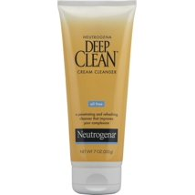 Facial Cleanser: Neutrogena Deep Clean Cream Cleanser