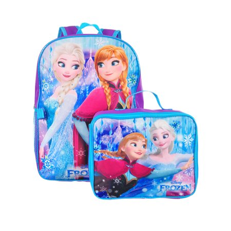 Frozen Backpack with Insulated Lunchbox Featuring Anna & Elsa - Backpack With Lunchbox