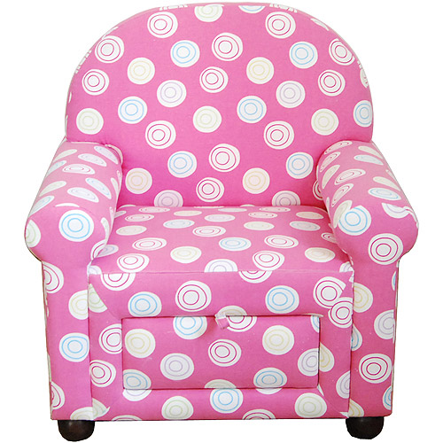 Girls' Accent Chair With Pull Out Storag