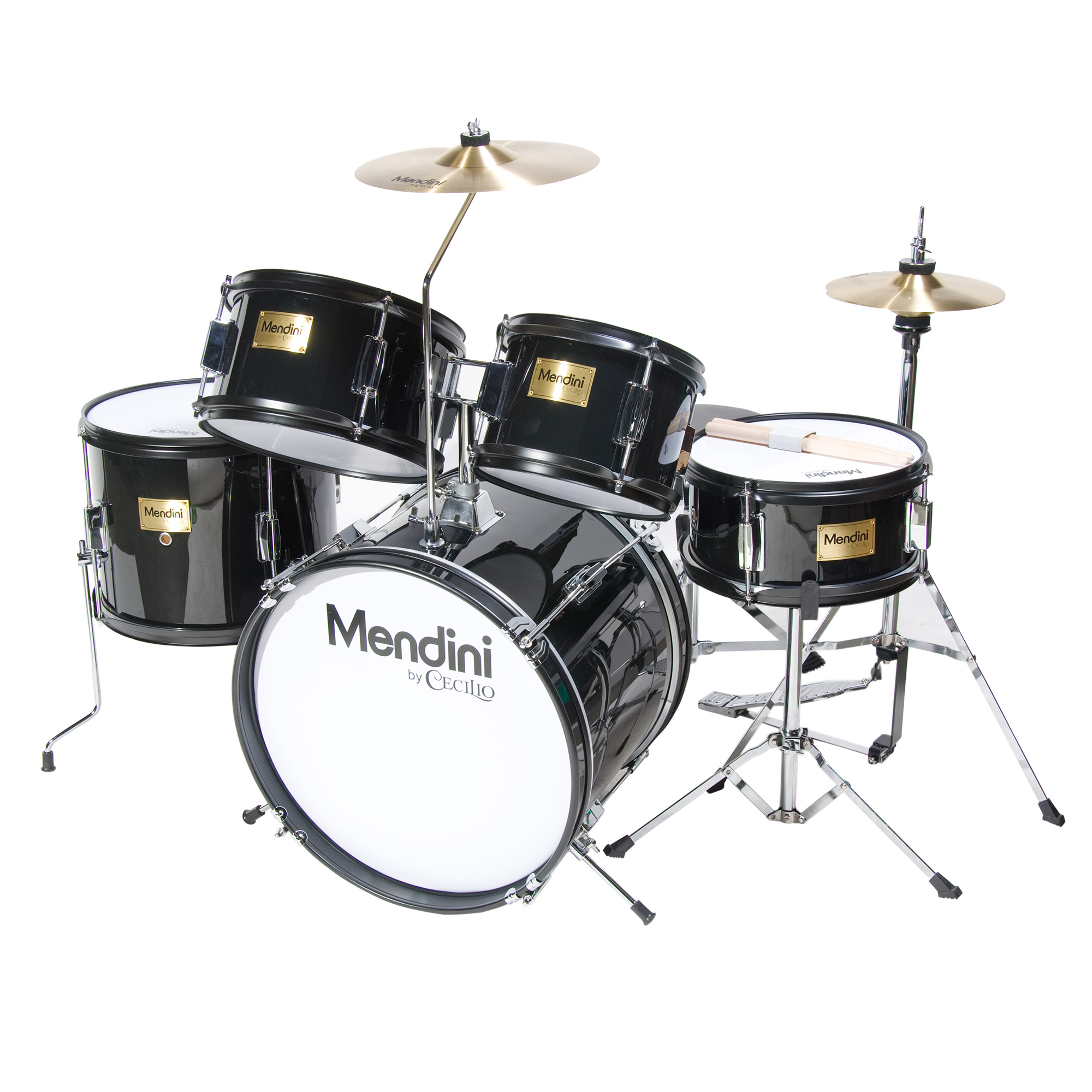 Mendini By Cecilio 16 5 Piece Complete Kids Junior Drum Set With