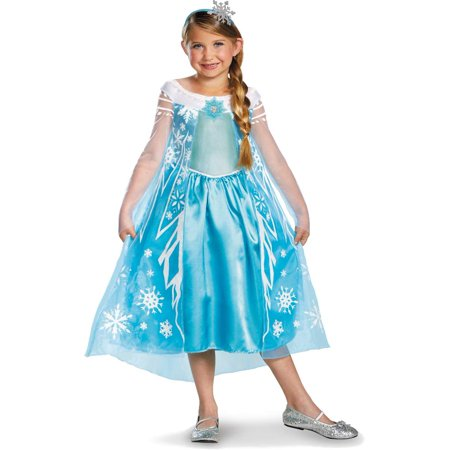 Disney Frozen Deluxe Elsa Costume With Headband Medium 7-8 (Disney Frozen Elsa Costume)