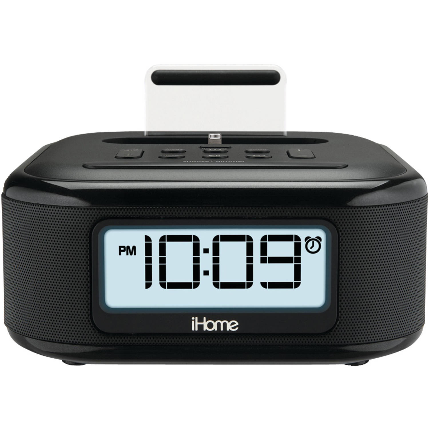 iHome IPL23B Stereo FM Clock Radio with Lightning Connector