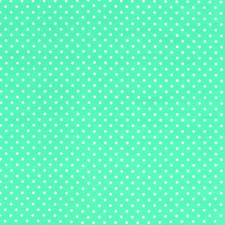 SHASON TEXTILE (3 Yards cut) 100% COTTON PRINT QUILTING FABRIC, MINT / WHITE SMALL DOTS.