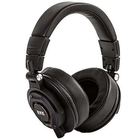 - LyxPro HAS-30 Closed Back Over-Ear Professional Recording Headphones for Studio Monitoring, DJ and Home Entertainment,Black