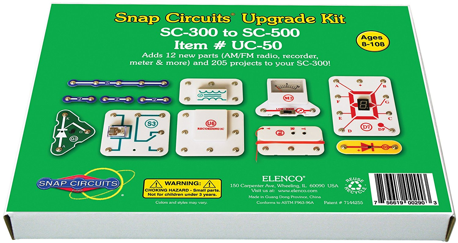 Uc 50 Upgrade Kit Sc 300 To 500 Get The Additional Parts And Elenco Electronic Snap Circuits Set Manuals Take Your Circuit Next Level By