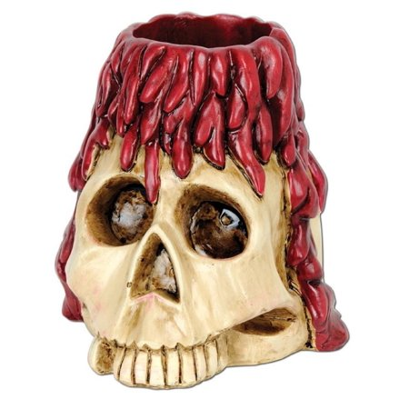 Pack of 6 Halloween Spooky Skull with Candle Drippings Tea Light Holder 6 oz](Halloween Candles)