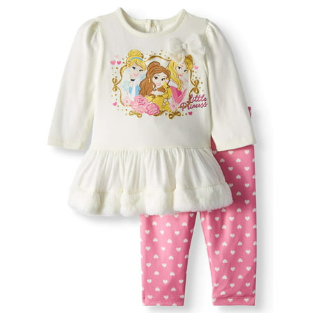 Long Sleeve Tutu Tunic & Leggings, 2-Piece Outfit Set (Baby Girls) - Princess Jasmine Inspired Outfit