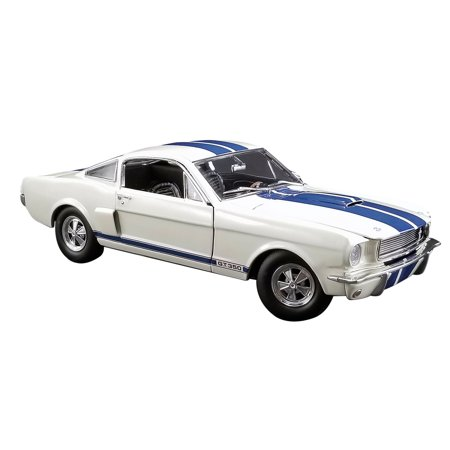 1966 Ford Mustang Shelby GT350 Supercharged Off White w/Blue Stripes Ltd Ed to 528 pcs 1/18 Diecast Model Car by ACME 1966 Ford Mustang Bumper