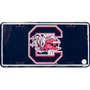 U.S.C(Univ of So. Carolina) blk/bkr embossed metal auto tag