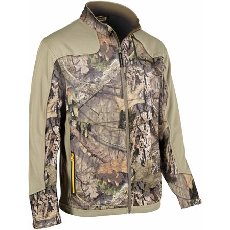 Yukon Gear YGLS Men's Full Zip Fleece Midlayer Jacket, Mossy Oak Country