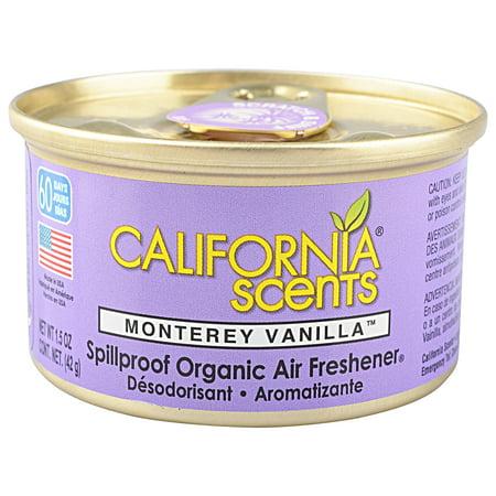 California Scents Monterey Vanilla Spillproof Organic Air Freshener, 1.5 oz (Air Freshener Costume)