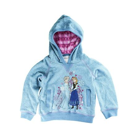 Disney Store Size Chart (Disney Store Girls Anna & Elsa - Frozen - Pullover Hoodie, Blue, Size)
