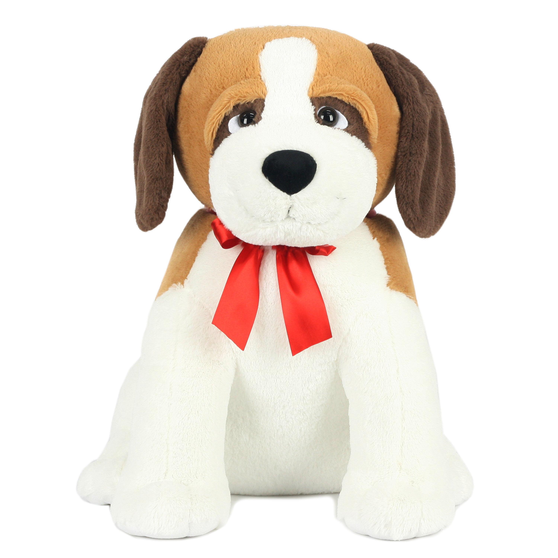 "Way To Celebrate 24"" XL Sitting Puppy Plush Toy - St. Bernard"
