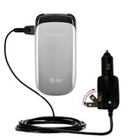Intelligent Dual Purpose DC Vehicle and AC Home Wall Charger suitable for the Samsung SGH-A107 - Two critical functions, one unique charger - Uses Gom