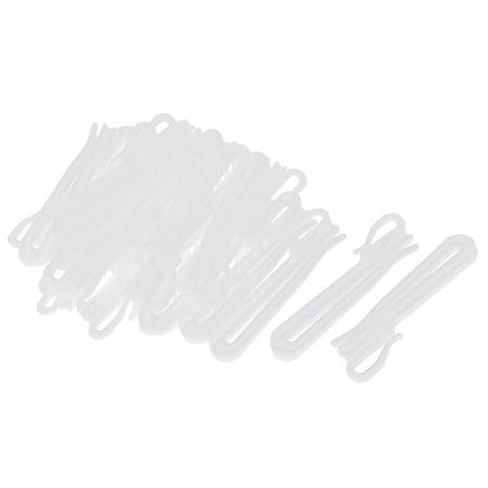 25Pcs Plastic Adjustable Depth Pinch Pleat Locking Curtain Tape Clip Hooks 9cm - Plastic Curtains