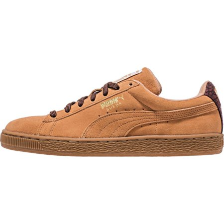 46cf888816 PUMA Men's Suede Classic Casual Fashion Sneakers, Sandstorm/Oxblood/Gum,  9.5 D US