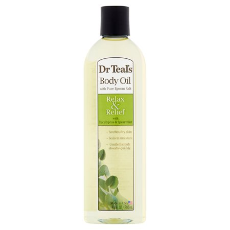 Eucalyptus Spearmint Essence (Dr. Teal's Relax & Relief with Eucalyptus & Spearmint Body Oil, 8.8 fl)