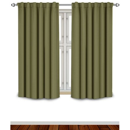 Blackout room darkening curtains window panel drapes for 12 inch wide window blinds
