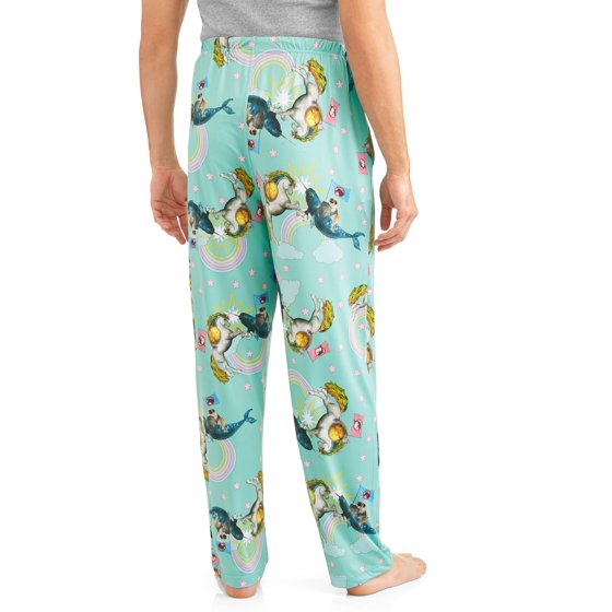 e5f434ad1 unicorn - Men's Unicorn vs. Narwhal Sleep Pants - Walmart.com