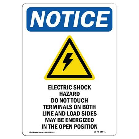 OSHA Notice Sign - Electric Shock Hazard 10