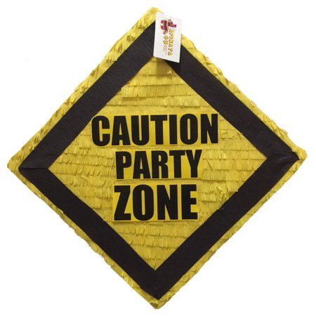 APINATA4U Construction Theme Pinata Caution Party Zone Pinata