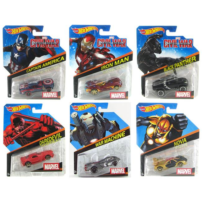 Mattel MATBDM71-998B-CASE Hot Wheels Marvel Character Cars 2016 Release B by Mattel