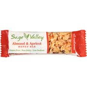 Sage Valley Almond & Apricot Honey Bar, 1.4 oz, (Pack of 12)